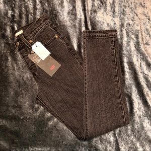 NWT Grey Levi's Wedgie Jeans